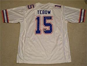 Tim Tebow Autographed Jersey - #15 White Nike Holo - Autographed College Jerseys