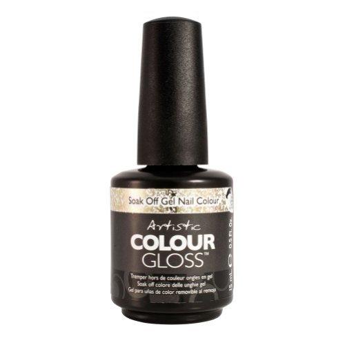 Artistic Nail Design Soak Off Colour Gloss Gel Polish Gold 03124 Gold Digger