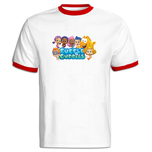 stammer-bubble-guppies-men-contrast-collar-t-shirt-o-neck-retro