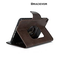 Bracevor Premium Smart Leather Apple iPad mini 4 Case Cover (Sleep/Wake, Rotating Stand) - Brown