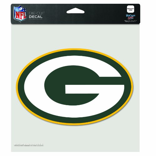 NFL Green Bay Packers 8-by-8 Inch Diecut Colored Decal by Wincraft