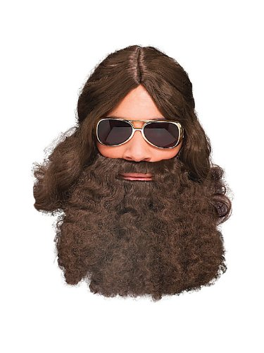 Rubie's Costume Co Curly Beard Costume, White, White