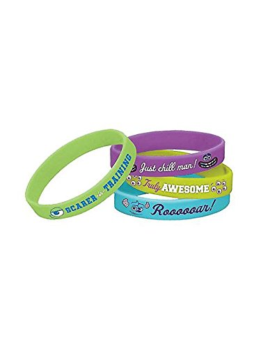 Monsters University Inc. Rubber Bracelets (4ct) - 1