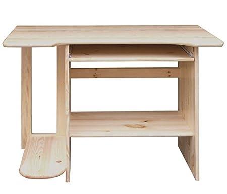 Desk solid, natural pine wood Junco 195 - Dimensions 75 x 103 x 57 cm