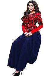 Prenea Red Bangalori Koti Dhoti Style Gown