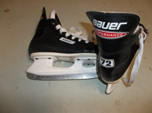 Nike-Bauer Performance 72 Ice Hockey Skates - Size 11.0 (youngster) - EXCELLENT STRUCTUAL CONDITION