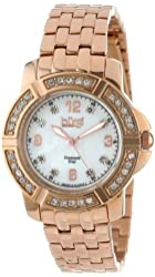 Burgi Women's BUR069RG Stainless Steel Diamond Bracelet Watch