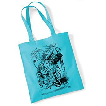 Alice in Wonderland (ALICE023) Tote Bag (blue)