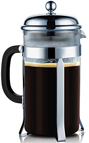 SterlingPro Coffee & Espresso Maker, 8 Cups (4 Ounce Each), Chrome