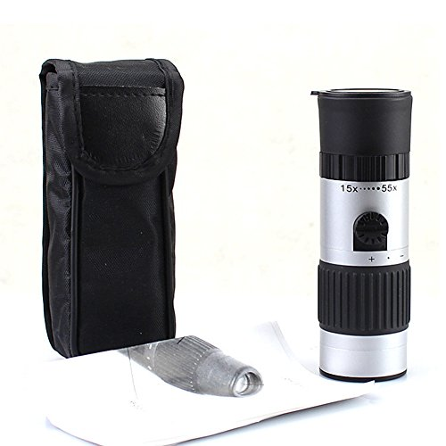 Chariot Trading - Mini Compact Monocular 15X-55X Zoom Camping Hiking Telescope Outdoor Scope - Cj-Bg-000600