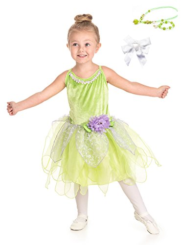 Little Adventures Tinkerbell Fairy Dress Up with Necklace, Bracelet & Hairbow Age 3-5