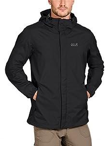 Jack Wolfskin Men's Cloudburst Weatherproof Jacket - Black, Small