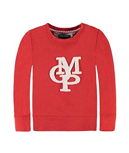 Marc O' Polo Kids Sweatshirt 1/1 Arm, Felpa Bambina, Rot (Bleached Apricot 2202), 140 cm