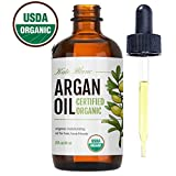 Moroccan Argan Oil, USDA Certified Organic, Virgin, 100% Pure, Cold Pressed by Kate Blanc. Stimulate Growth for Dry and Damaged Hair. Skin Moisturizer. Nails Protector. 1-Year Guarantee. (Light 2oz) (Tamaño: Light 2oz)