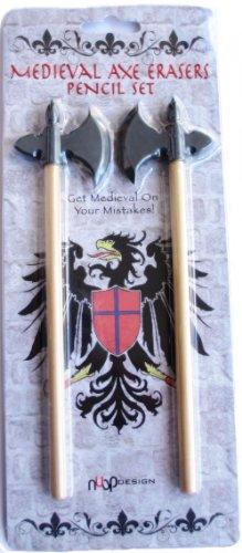 NUOP Design Medieval Axe Erasers Pencil Set
