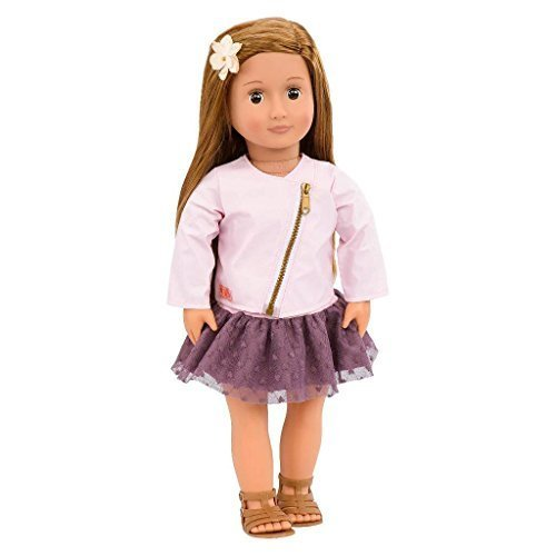 our-generation-18-inch-regular-doll-vienna-with-long-brown-hair-brown-eyes-pink-zipper-jacket-purple