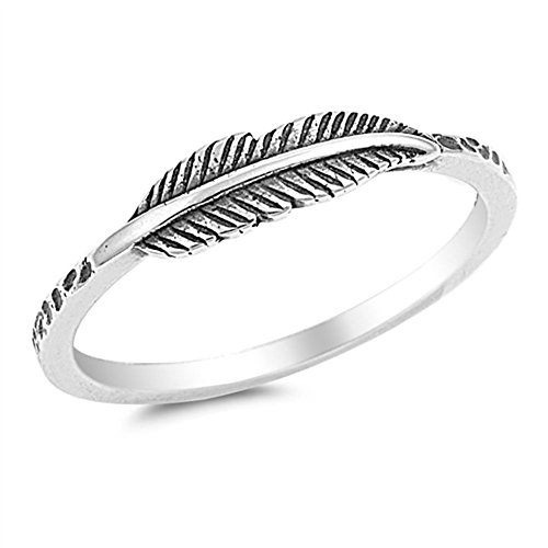 Oxidized Leaf Fashion Ring New .925 Sterling Silver Band Size 10 (RNG15710-10) (Silver Leaf Ring compare prices)