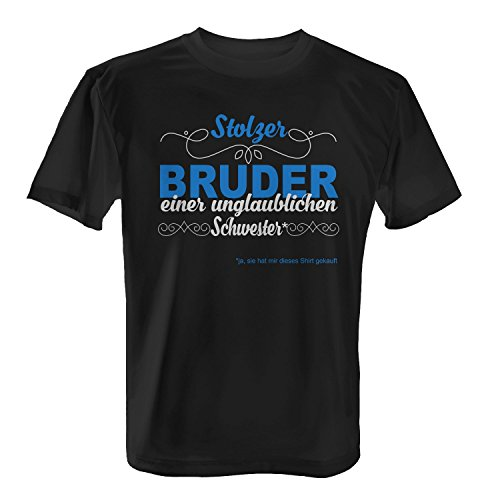 stolzer bruder einer unglaublichen schwester ja sie hat mir dieses shirt gekauft herren t. Black Bedroom Furniture Sets. Home Design Ideas