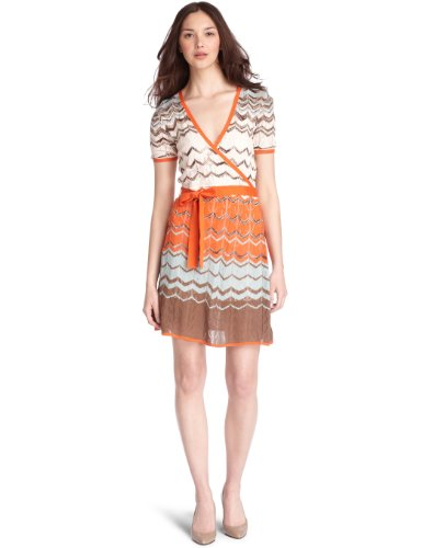 BCBGMAXAZRIA Short-Sleeved Cable-Knit Sweater Dress