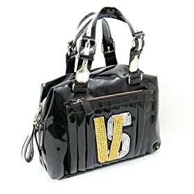 Versace Black Leather Handbag