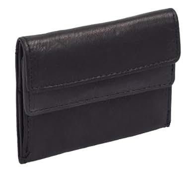 Petit portemonnaie OTARIO , cuir véritable, noir