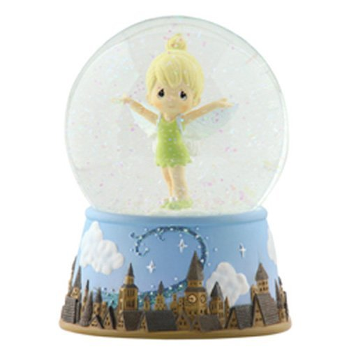 Precious Moments, Disney Showcase Collection, Tinker Bell Over London Skyline, Resin Musical Snow Globe, 113104 by Precious Moments (Peter Pan Musical Snow Globe compare prices)