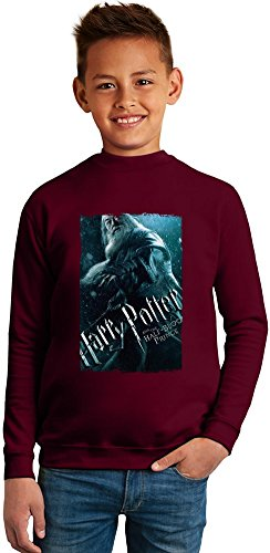 Harry potter dumbledore Superb Quality Boys Sweater by TRUE FANS APPAREL - 50% Cotton & 50% Polyester- Set-In Sleeves- Open End Yarn- Unisex for Boys and Girls 6-7 years