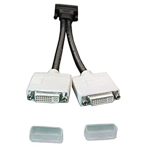 Dell Molex DMS-59 Dual DVI Y-Splitter Cable, Refurbished H9361
