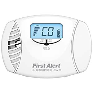 First Alert CO615 Dual Power Carbon Monoxide Plug-In Alarm with Battery Backup and Digital Display