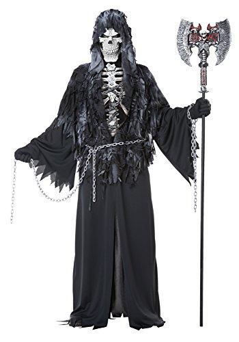 California Costumes Men's Evil Unchained Scary Ghost Demon Skeleton Grim Reaper, Black, Small/Medium