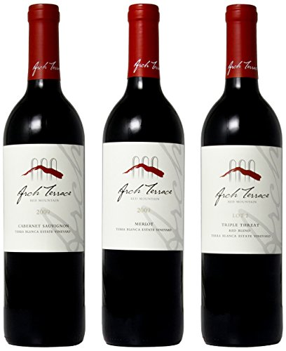 "2009 Terra Blanca ""Reds Of Red Mountain"" Mixed Pack Of Cab, Merlot, Blend 3 X 750 Ml"