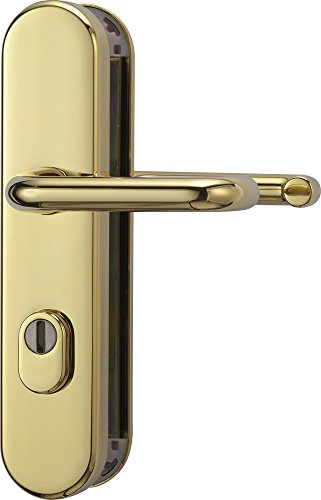 Abus KLZS714 MS, Maniglia per porta, entrambi i lati EK, con placca protettiva per cilindro serratura, in ottone, 12247
