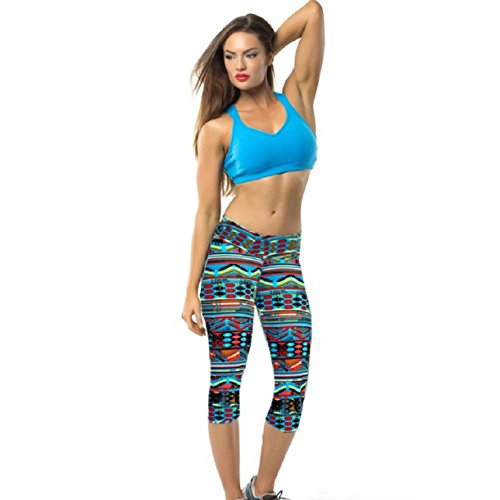 Lookatool Women's High Waist Fitness Yoga Sport Pants (L, Multicolor 5)