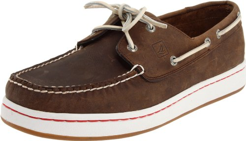 Sperry Top-Sider Men's Sperry Cup Boat Shoes - Dark Brown 9