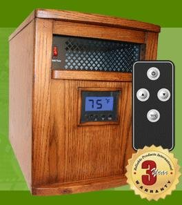 Heat Smart Victory SSF1500 Infrared Portable Space Heater, Heats Up to 1,000 Sq. Ft.