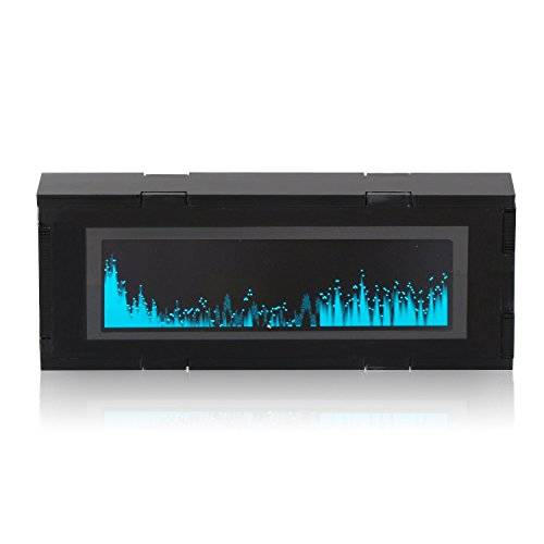 DROK® AS256 Musica Spectrum display OLED Car Audio Spectrum, gadget popolari per gli strumenti musicali Display-banda Full Spectrum & Electric livello, Kit elettronica fai da te con Sensitive MIC incorporato Adatto per gli amanti della musica ventilatori Elettronica