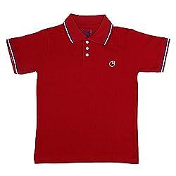 Circle Square Boy's Polo T-Shirt Red