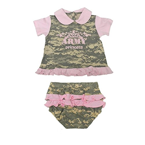 2pc Army Infant Baby Princess Dress - Pink & Camo (6-9 Month)