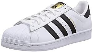 Adidas Originals Superstar, Chaussons Sneaker Homme - Blanc (Ftwr White/Core Black/Ftwr White) - 42 EU