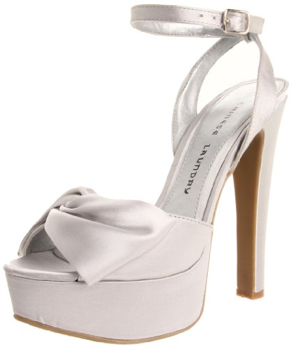 Chinese Laundry Women's Forget You Platform Pump,Silver,6 M US