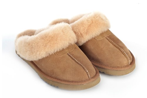Cheap Sheep Touch Women's Twin-Face Australian Sheepskin Classic Slippers Chestnut (B00454THDS)