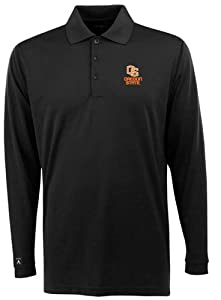 Oregon State Long Sleeve Polo Shirt (Team Color) by Antigua
