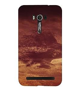 PrintVisa Cloudy Face Design 3D Hard Polycarbonate Designer Back Case Cover for Asus Zenfone Go