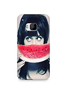 Amez designer printed 3d premium high quality back case cover for HTC One M9 (Girl with Watermelon)