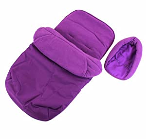 3 In 1 Luxury Padded With Pouches Footmuff Liner And Baby Headhugger Fitsany Stroller Pram Or Buggy - Plum by BABY TRAVEL