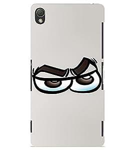 PrintVisa Cool Cartoon Emotion 3D Hard Polycarbonate Designer Back Case Cover for Sony Xperia Z3 Mini
