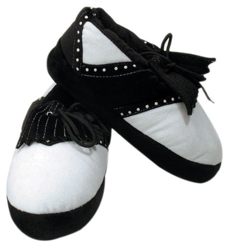 ProActive Sports Golf Slippers, Black and White,
