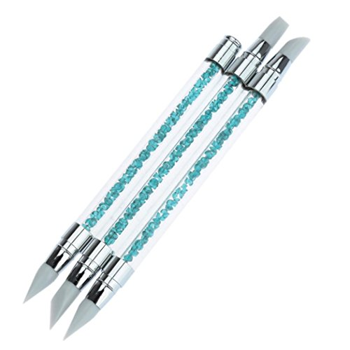 gotd-3-pcs-pencil-strass-head-nail-art-brush-nail-silicone-brushes-with-acrylic-strap-3-pack-blue