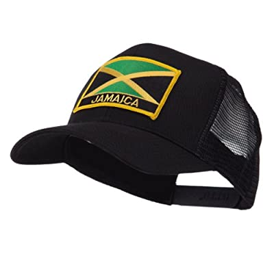 North and South America Flag Letter Patched Mesh Cap - Jamaica W42S52F