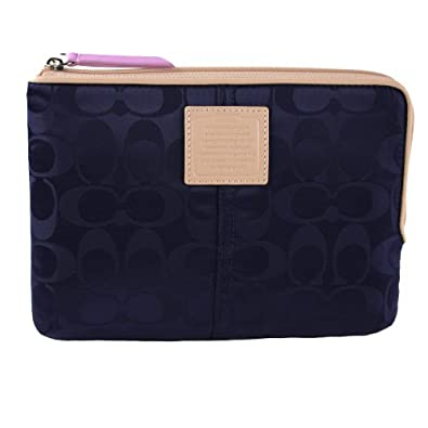 Coach Legacy Weekend Signature Nylon Sleeve Case Pouch 65857 Navy